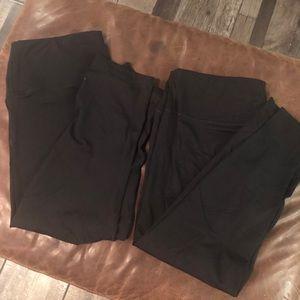 90 degree by reflex crop athletic leggings - pair